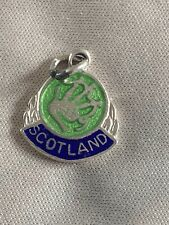 SCOTLAND Silver Travel Shield Enamel Charm