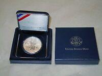 2021 American 1 oz Silver Eagle Coin 999 Fine Silver BU In Capsule & US Mint Box