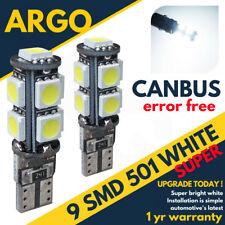 Bright Smd Led Xenon power Side Light 501 W5w 158 168 T10 Super White Bulbs 12v