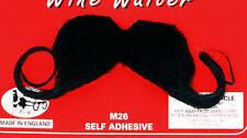 Negro vino francés camarero Bigote Poirot Detective Gran Potencia Fancy Dress