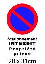 """Autocollant  """"stationnement interdit propriété privée"""""""