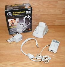 *For Parts* Ge (2-9917) 40-Channel Auto Scan 900Mhz Cordless Headset Telephone