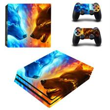Iced and Fire Wolves Monsters Vinyl Decals for PS4 Pro Console Controllers Skins
