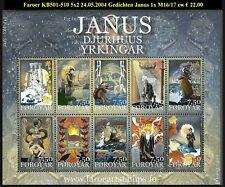 FAROER KB501-510 5x2Illustraties bij Gedichten van Janus