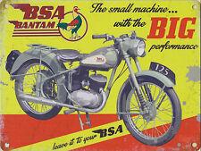 New 30x40cm BSA Bantam motorbike reproduction vintage metal advertising sign