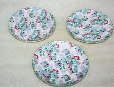 THREE SHELLEY SUMMER GLORY CHINTZ SAUCERS