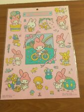 Ultra Rare Vintage 1976, 1983  Sanrio My Melody Large Sticker Sheet *New*