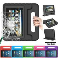 EVA Handle Kids Stand Cover Case +Screen Protector For Amazon Kindle Fire 7 HD 8