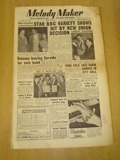 MELODY MAKER 1954 APRIL 17 BBC VARIETY SHOW NAT KING COLE DICKIE VALENTINE