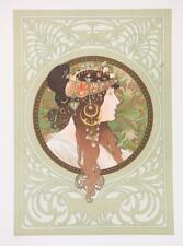 Mucha Byzantine Heads Brunette Limited Edition Fine Art Lithograph S2