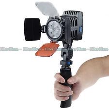 PRO 4pcs LED Digital Camera Camcorder DV Video Light Lamp LED-VL005 +Handle Grip