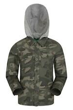 Mountain Warehouse Kid  Lightweight Camo Jersey Lined Kids Shacket In Camouflage