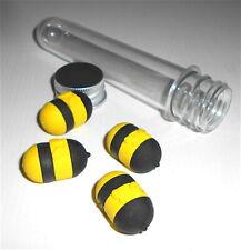 BEE -  APE apette  - tube with 5 eraser radiergummi - 5 gommine tubetto