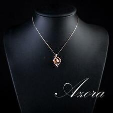 STUNNING ROSE GOLD PLATED PENDANT WITH CHAIN 0014