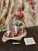 Vintage Dresden Porcelain Figurine Regency Period Gentleman Playing Flute A/F