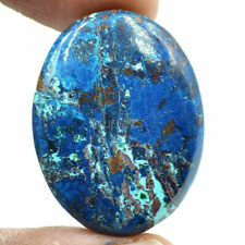Cts. 41.15 Natural Azure Color Azurite Cabochon Oval Cab Loose Gemstone
