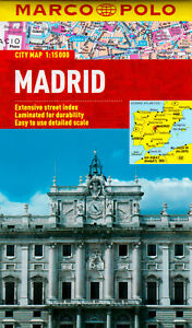 Madrid Marco Polo City Map: Marco Polo City Maps Paperback Book