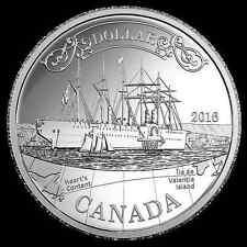 Kanada 150. Jahrestag Transatlantik Kabel 1 CAD Dollar 2016 Silber Proof PP