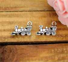 PJ749 10pc Retro Tibetan Silver train Charm Beads Pendant Jewellery Making