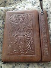 Mexican Handicraft Artesian Address Book And Pen Holder