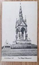 POSTCARD: LONDON, ALBERT MEMORIAL, CLOSE VIEW: c1914-18