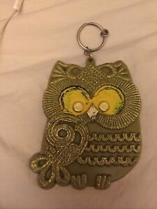 Vintage Novelty Keychain Owl Preowned. As-is, As- Found.