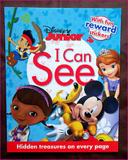 DISNEY JUNIOR - I CAN SEE - ACTIVITY BOOK 30pg Hidden Treasures, Stickers & More