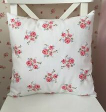"""💗Clarke & Clarke Shabby Chic Fifi Chintz Floral Pink Flower 16"""" Cushion Cover💗"""