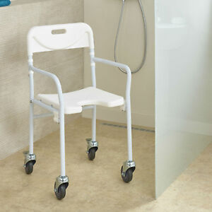 Allure Lightweight Folding Shower Chair with Wheels