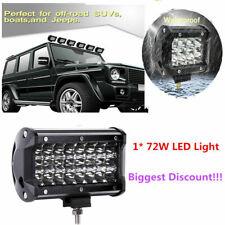 "7"" 72W 24*LED Car Combo Work Light Bar Spot Beam Fog/Driving Lamp Offroad SUV"