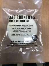 "3"" White Lake Country Polishing Pad"