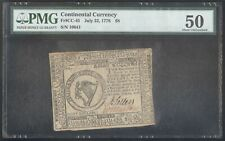Continental Currency $8 July 22, 1776 + Pmg + Fr# Cc-45 + Au 50 + No Reserve!