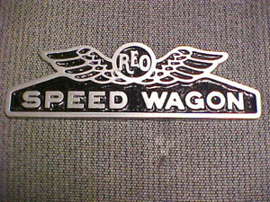 REO Speed Wagon Truck Radiator Emblem Medallion 1920s 1930s Cast Aluminum 2 size