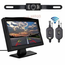 "Reverse Camera Night Vision Kit Wireless 5"" Monitor Car Rear View System Backup"