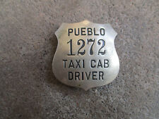 vintage 1930 era Peublo Colorado Cab Badge Pin CDL Employee ID Driver License