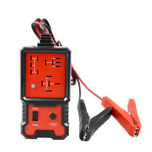 12V Electrical 4 Pin 5 Pin Relay Tester Battery Test Tool fpr Car Motorcycle ATV