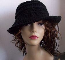 Flapper hat hand Crocheted/Knit, Cloche, Wide Brim, Bucket, Downtown Abbey