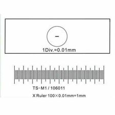 DIV 0.1mm 0.01mm Microscope Stage Micrometer Calibration Slide Stage Graticules