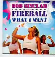 (FG548) Bob Sinclar presents Fireball / What I Want - 2008 DJ CD