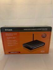 D-Link Wireless G ADSL2+ 4-PORT ROUTER DSL-264OU- NEW!