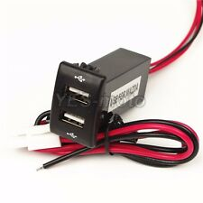 Dual USB Port Socket iPad Mobile Phone Smartphone Charger 1.2A/2.1A For MAZDA