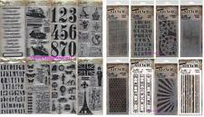 TIM HOLTZ Lot of 8 Layering Stencils & 8 Cling Rubber Stamps Stamper's Anonymous