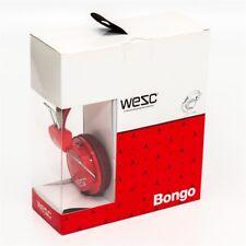 cuffia WESC ICON BONGO red no oboe per Mp3 DJ iPod iPhone usb player NUOVA