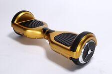 "Smart Self Balancing 6.5"" E-Scooter Gold Bluetooth Remote Control Led Lights"