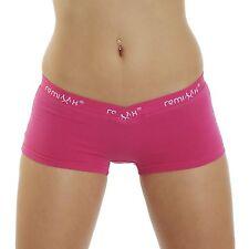 Remixx 4er Pack Damen Hotpants Farbmix Stretch Baumwolle Boxershorts Hipster