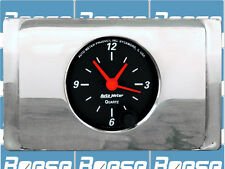 1940 Ford Deluxe Clock Insert w/ Auto Meter Designer Black Clock