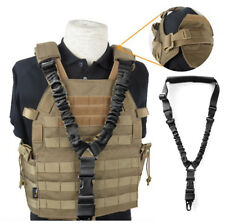 UK Adjustable Single Point Rifle Sling Tactical Bungee Airsoft AEG Gun Strap 1