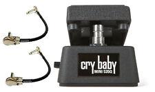 Jim Dunlop Cry Baby Mini 535Q Wah Pedal CBM535Q Half Size ( 2 MXR PATCH CABLES )