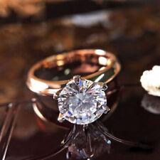2Ct Round Moissanite Diamond Solitaire Engagement Wedding Ring 14K Rose Gold Ovr