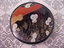 Coasters with Container Oriental Flower Designs Made in Japan Lot of 6